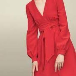 Kate Spade NY Tie Waist Red Dress